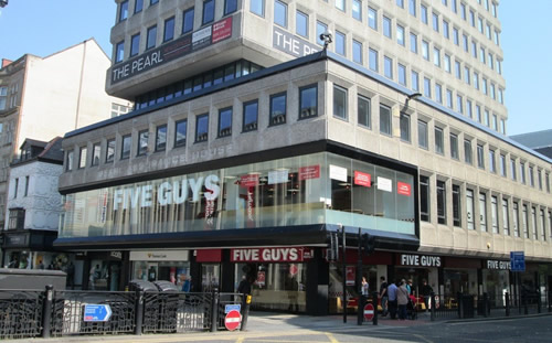 five guys newcastle